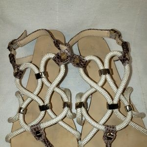 Calvin Klein Shoes - Calvin Klein Rope Sandals Croco Embossed 7 M Shoes